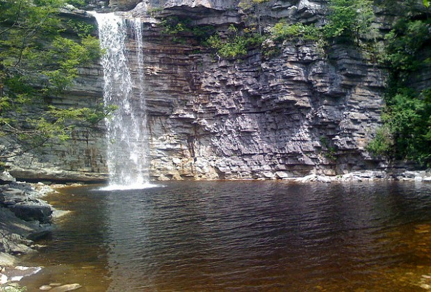 Awosting Falls in Minnewaska State Park Preserve is just a short walk from the parking lot