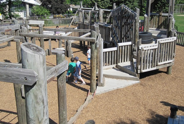 New Paltz has one of the most elaborate playgrounds in the area