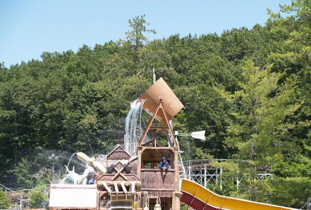 The kid's play area at Splashwater Kingdom