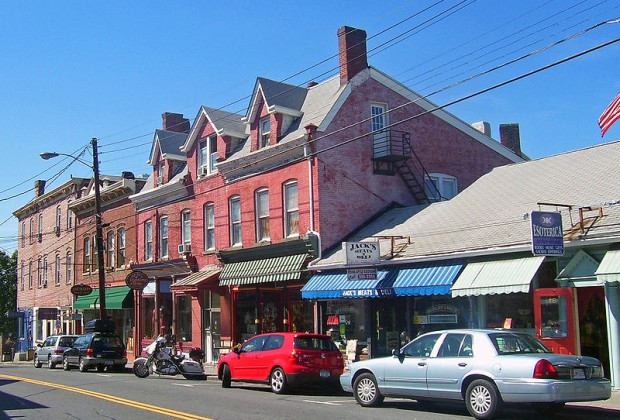 Cute, family-owned shops and restaurants line Main Street