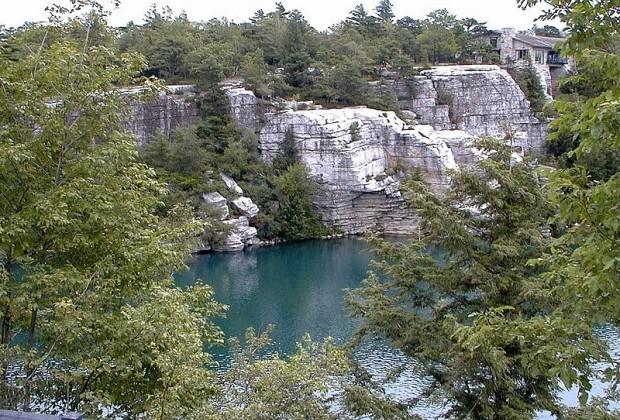Swim in or hike around Lake Minnewaska