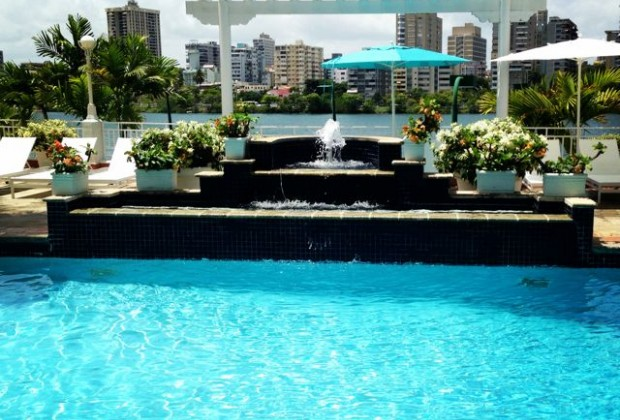A pool at the Condado Plaza
