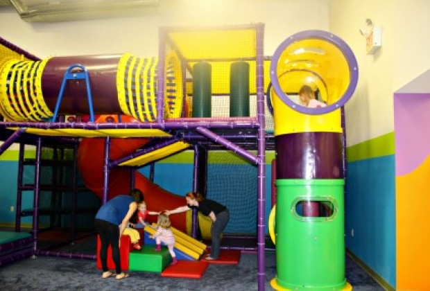 There's also a jungle gym with tubes to explore...