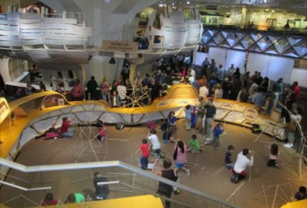 The NY Hall of Science's new Design Lab features five pods where kids<br /> can try design and engineering-themed activities