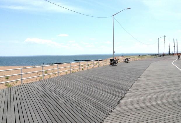 Fantasy Shore mini-amusement park is located right by the Midland Beach boardwalk