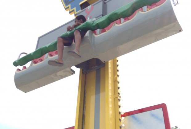 There are four mild rides for little kids, including<br /> the Midland Beach Pro Tow, a free-fall ride