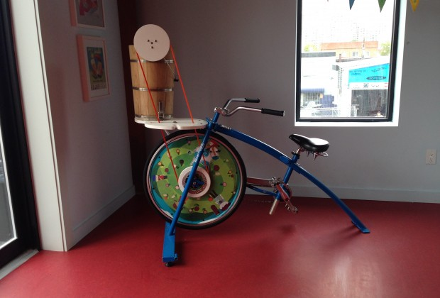 Kids can pedal the ice cream bike during birthday parties