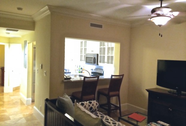 The living room in a Key West Concierge room is bigger than most Manhattan apartments