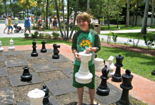 My boy loved playing chess with these oversized pieces