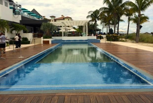 The infinity pool in Key West Village