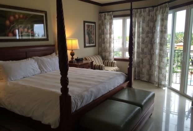 Master bedroom in an Italian village room
