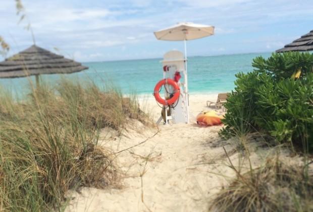 The sunning beach