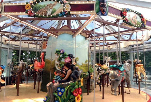 The brand-new Conservation Carousel at the Staten Island Zoo