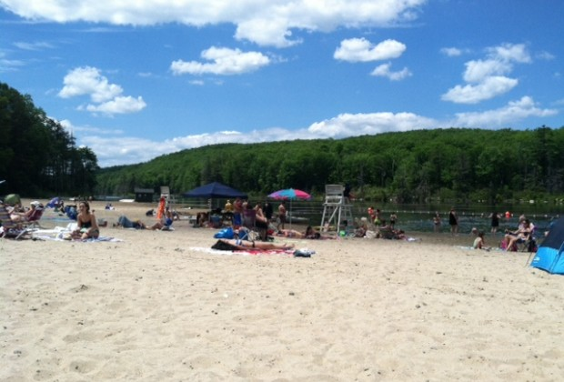 Canopus Lake Beach in Fahnestock State Park