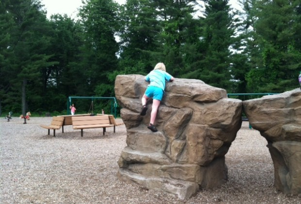 The climbing rocks at Franklin D Roosevelt