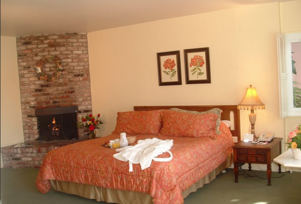Master bedroom with fireplace (and kitchenette)
