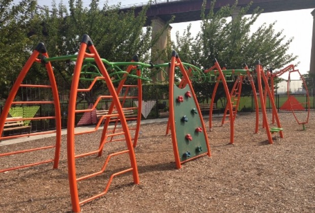 Scylla Playground has equipment for kids of all ages
