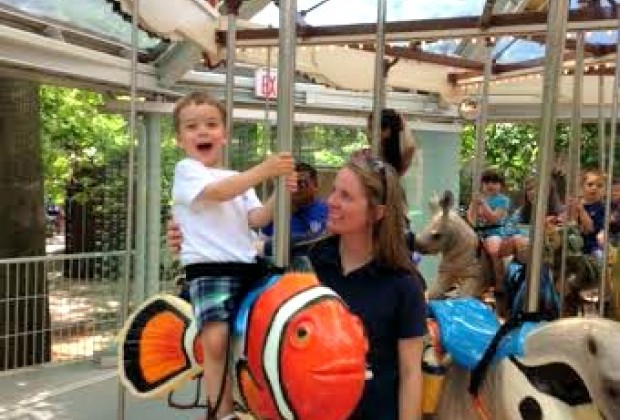 """And a clown fish--little kids will love riding """"Nemo"""""""