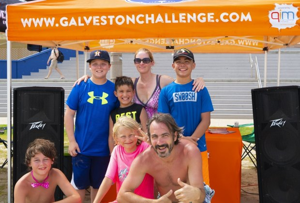 Bring out the family for a good, old-fashioned beach challenge./Photo courtesy of Galveston Convention & Visitors Bureau.