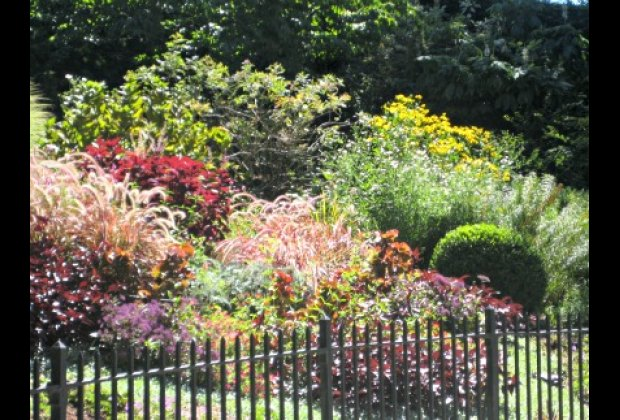 There are colorful gardens in Carl Schurz Park
