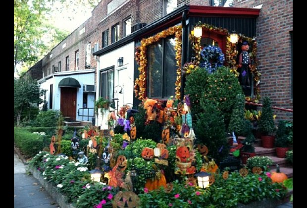 A festive display in Sunnyside Gardens