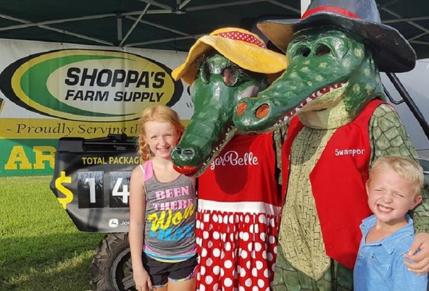 Families can indulge in a healthy dose of all things gator all weekend long during Gatorfest. Photo courtesy of Texas Gatorfest.