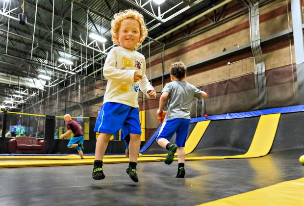 Double (or triple) up on jumps at Get Air Trampoline Park. Photo courtesy of the venue