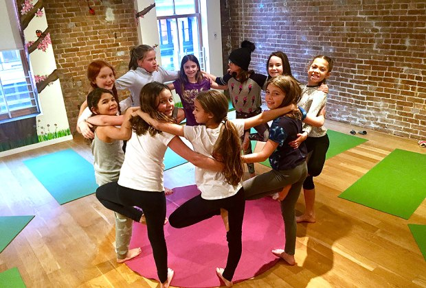 Karma Yoga teaches girls to tap into their strengths. Photo by Luke Volpe