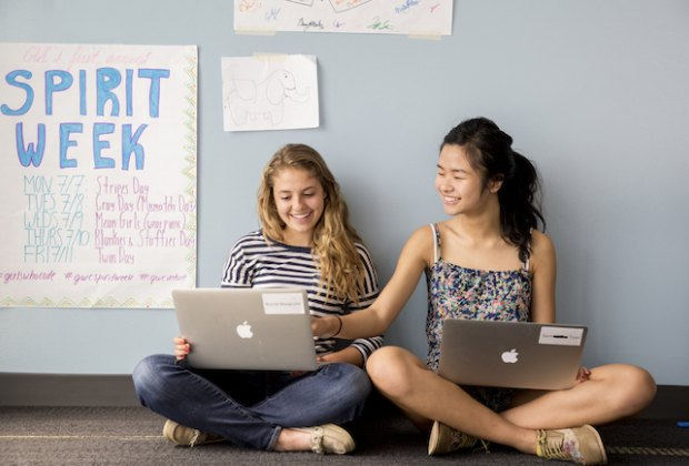 High school girls interested in computer science are encouraged to apply. Photo courtesy Girls Who Code
