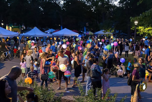 Get ready to light up the night at Glow in the Park! Photo courtesy of Glen Ellyn Parks