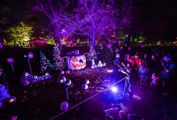 The Glow jack-o'-lantern display is worth a trip to Philly!  Photo courtesy of the event