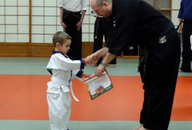 Belt ceremony at Go No Sen Karate