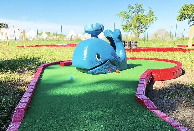 A new 18-hole mini golf course opens June 23 on Governors Island.