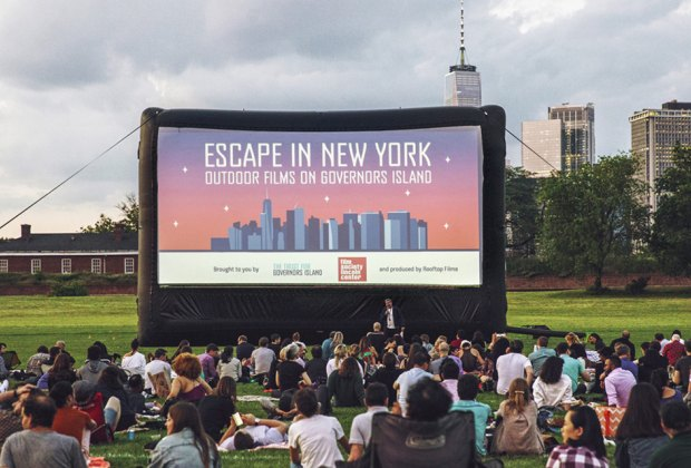 Didn't see enough movies under the stars this summer? The outdoor film series on Governors Island continues this month. Photo courtesy of Lincoln Center