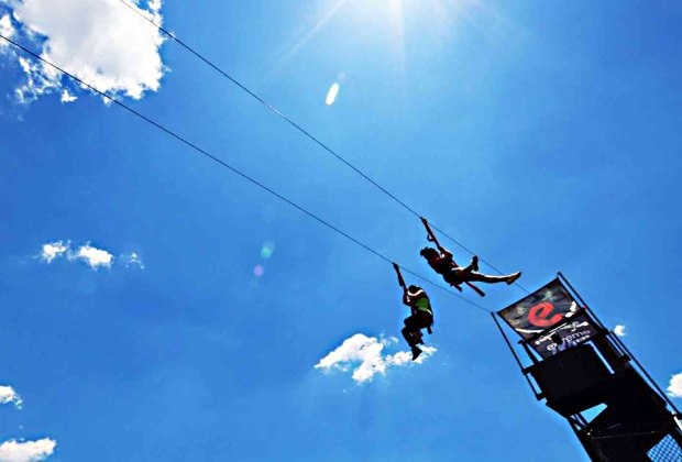 Zip-lining on Governors Island is cool enough even for NYC's big kids. Photo courtesy Governors Island
