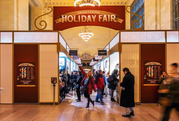 Grand Central Holiday Fair is a holiday market with 40 vendors in Vanderbilt Hall. Photo courtesy of Grand Central