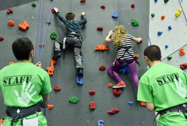 Have some energy to burn? Hit up Gravity Vault for some climbing. Photo courtesy of Gravity Vault
