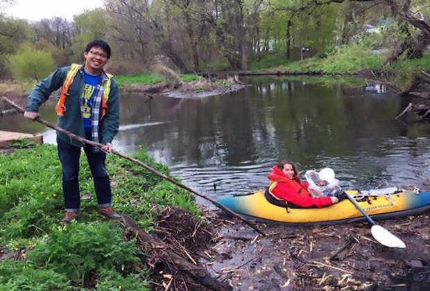 Nine sites along the Saw Mill River will welcome volunteers to help remove trash for the Great Saw Mill River Clean-Up. Photo courtesy of Groundworks Hudson Valley