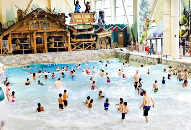 Catch a wave at Great Wolf Lodge. Photo courtesy of the water park