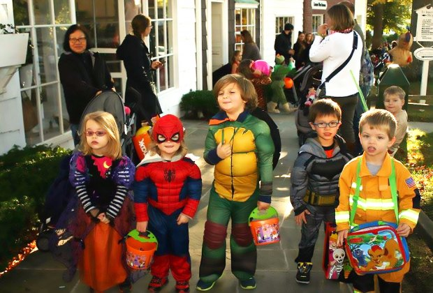 Trick or Treat around the shops and join in the Monster Merlin parade at the Stony Brook Village Center. Photo courtesy of Stony Brook Village Center