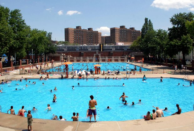 NYC's 60+ public swimming pools scattered around New York's five boroughs are open for the summer! Photo by Daniel Avila for NYC Parks
