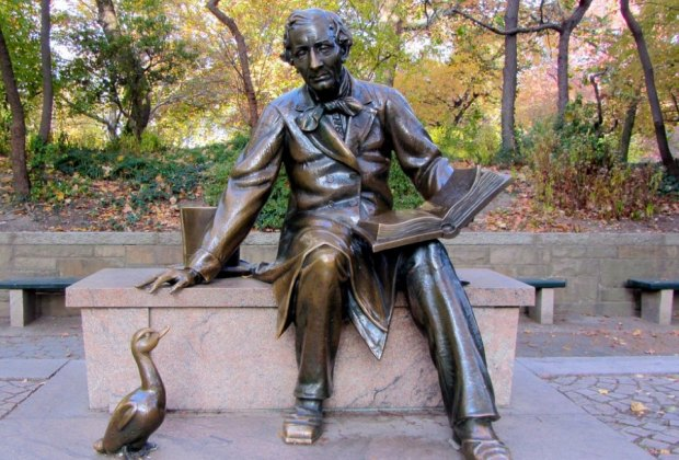 Hear the tale of The Pink Pearl Prince at the Hans Christian Andersen statue in Central Park.