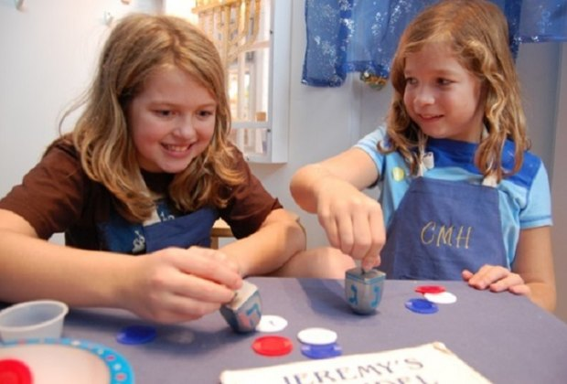 Learning about Chanukah traditions at the Children's Museum of Houston/Photo courtesy of Children's Museum of Houston