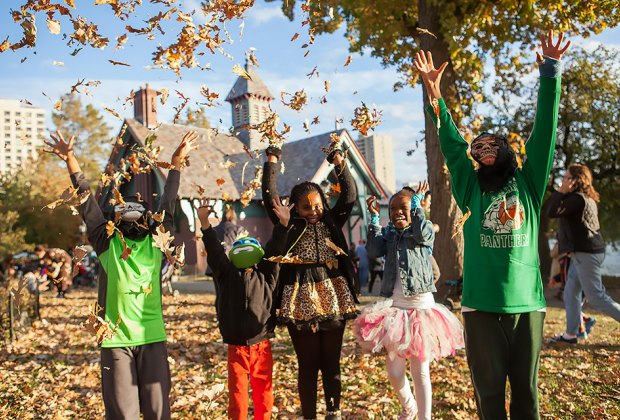 Celebrate Halloween in Central Park at the Harlem Meer Flotilla and Parade. Photo courtesy of the Central Park Conservancy