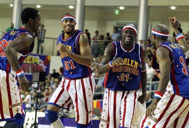 Watch the legendary Harlem Globetrotters have fun both on and off the court this weekend./Photo courtesy of The Harlem Globetrotters.