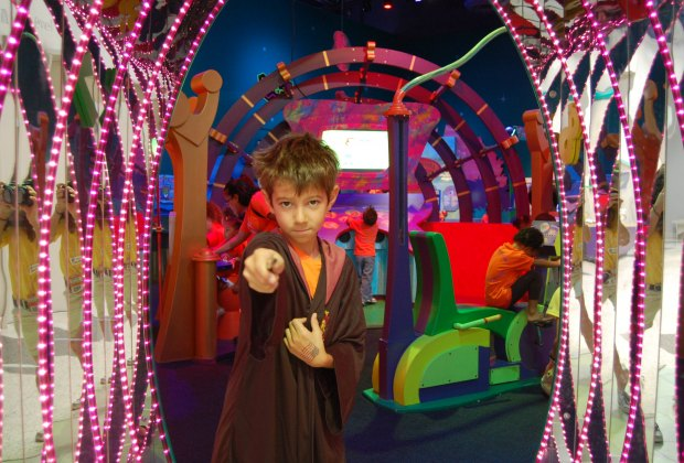 Let kids test their wizarding skills at Harry Potter's Birthday Bash. Photo courtesy of the Children's Museum of Houston.