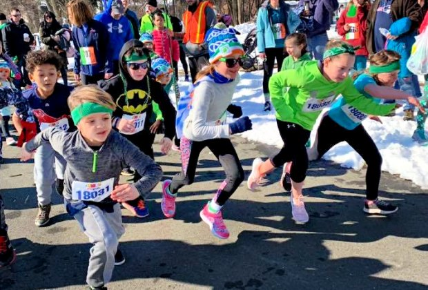 Littles can get in on the fit fun in the Wee Mile race on St. Paddy's Day. Photo courtesy of Hartford Marathon Foundation