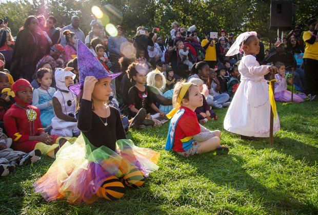 Kids can wear costumes and join a parade at the Brooklyn Botanic Garden's Harvest Homecoming. Photo by Julie Markes