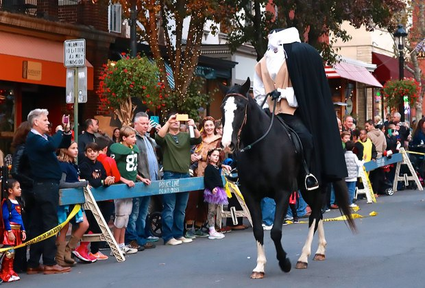 The Headless Horseman rides again in the Tarrytown Halloween Parade. Photo courtesy of the event