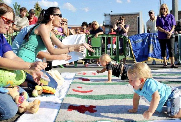 Make way for the Diaper Dash! Photo courtesy of Hebron Harvest Fair